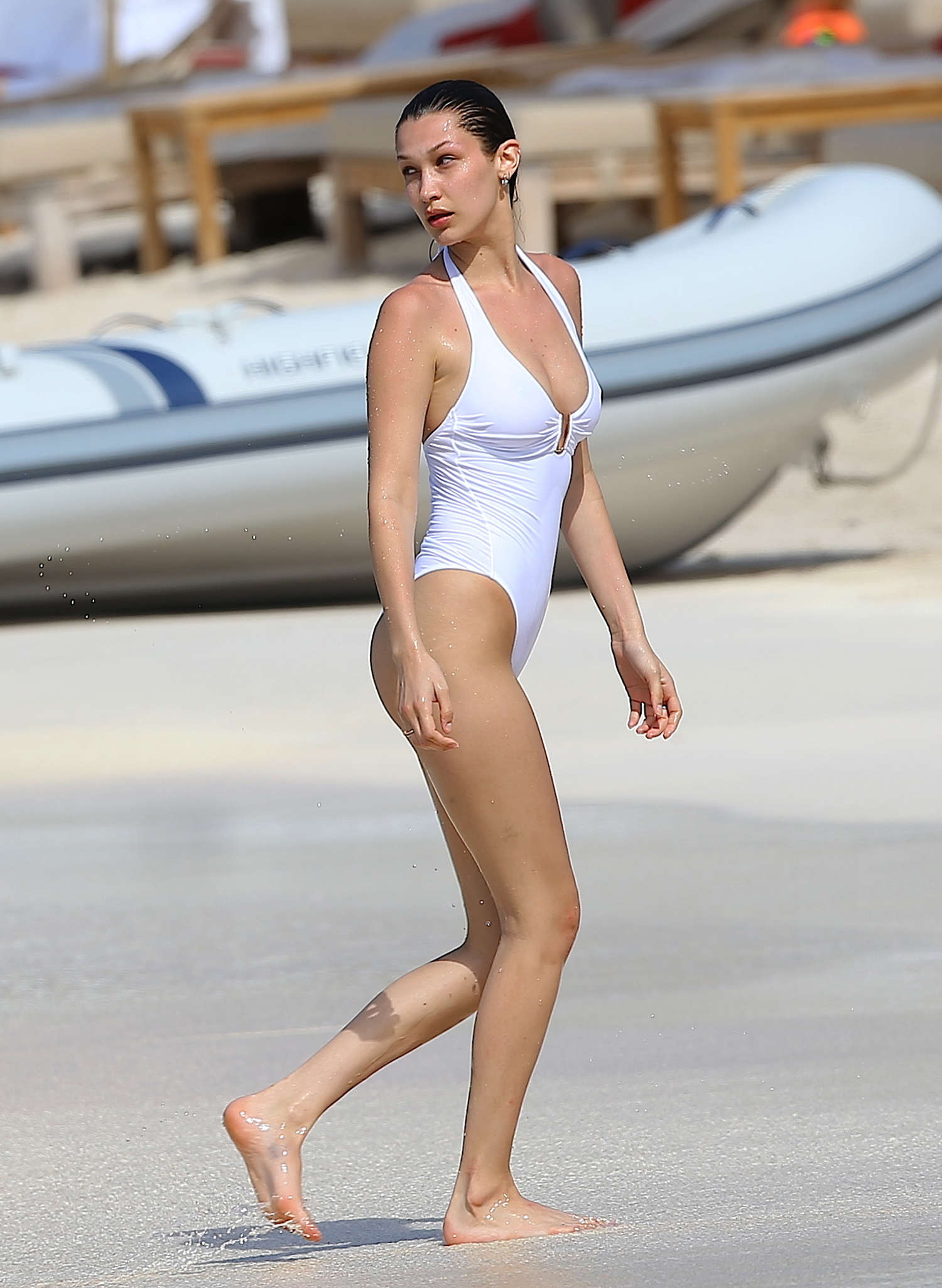 3df5f28b13 Bella Hadid in White Swimsuit 2016 -46 - Full Size