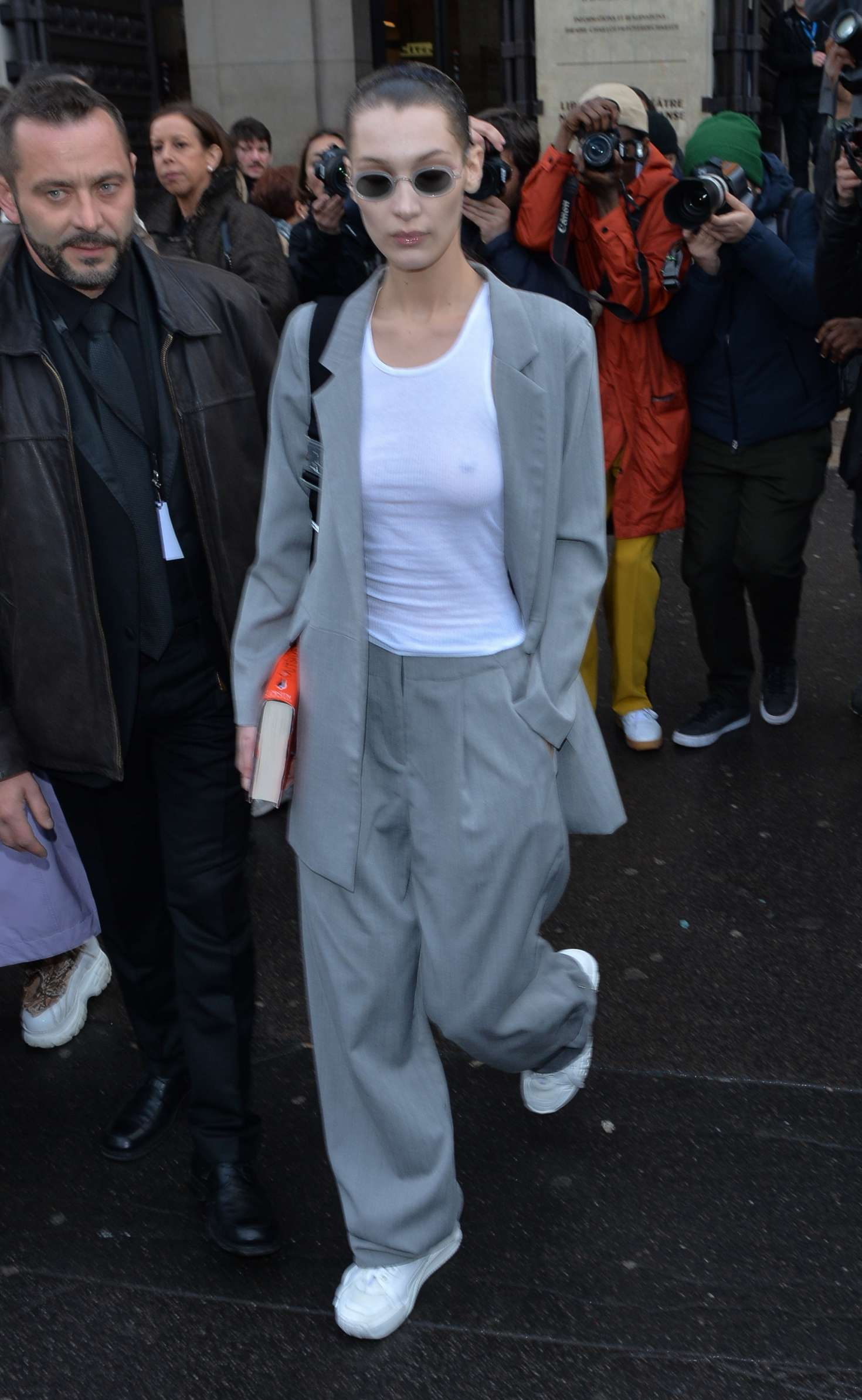 Bella Hadid - Leaves Ackermann Fashion Show in Paris