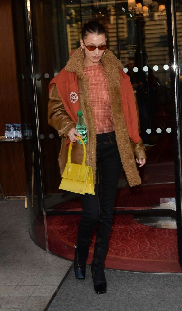Bella Hadid - Leaves her hotel and heads to a fashion fitting in Paris