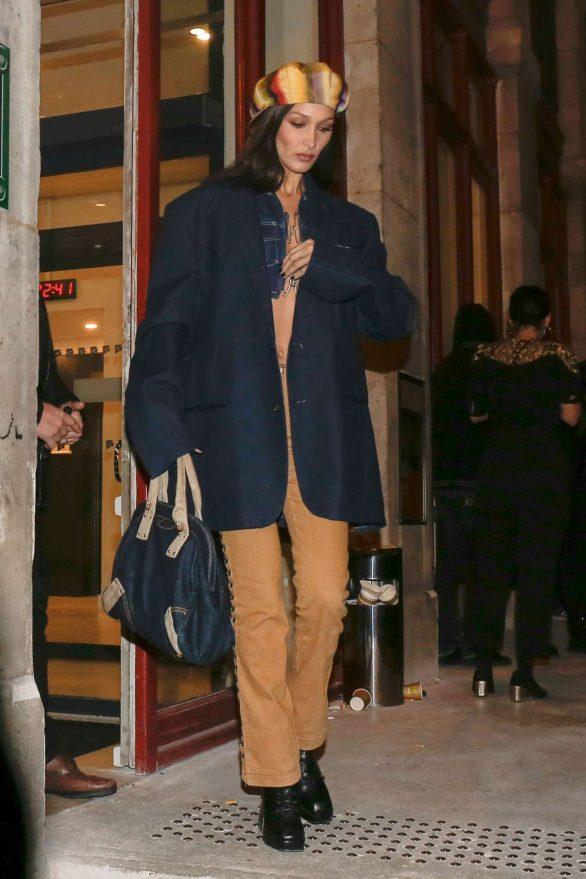 Bella Hadid - Leaves Jean-Paul Gaultier Show in Paris