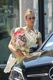 Bella Hadid - Leaving a floral shop in LA