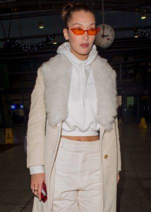 Bella Hadid - Leaving Heathrow airport in London