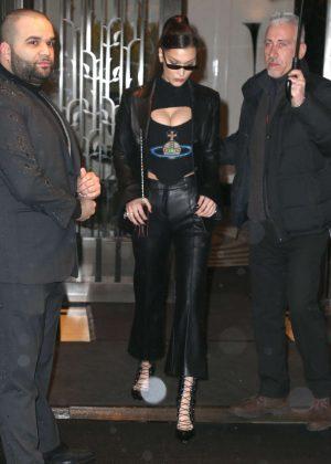 Bella Hadid - Leaving her apartment in New York