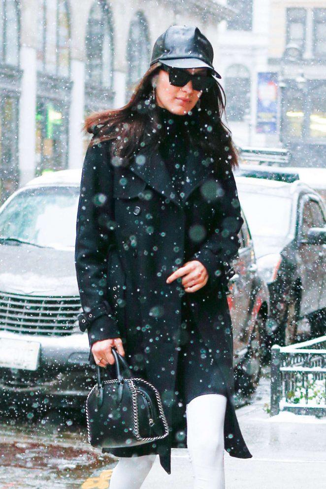 Bella Hadid – Leaving her apartment in New York