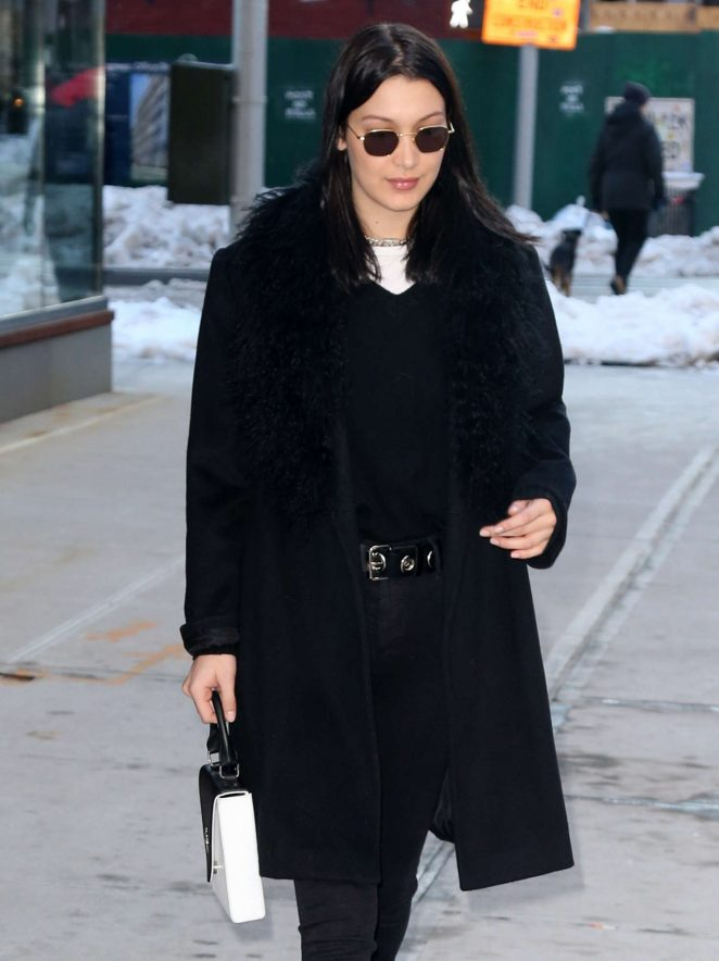 Bella Hadid - Leaving her apartment in NYC