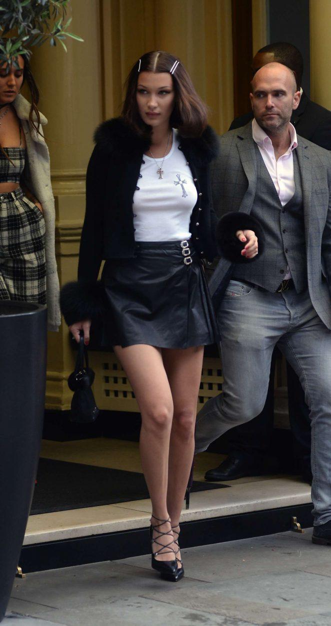 Bella Hadid - Leaving her hotel in London
