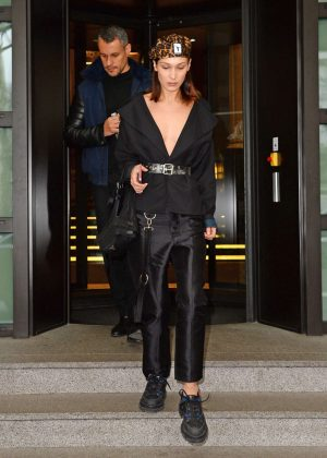 Bella Hadid - Leaving her hotel in Milan
