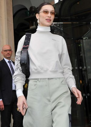 Bella Hadid - Leaving her hotel in Paris