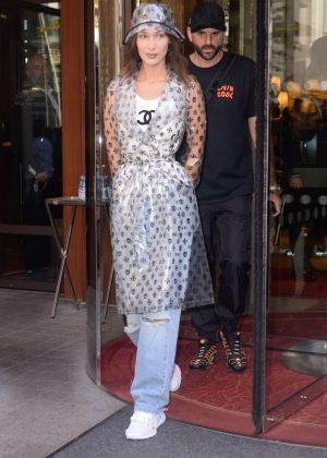 Bella Hadid - Leaving her hotel in Paris