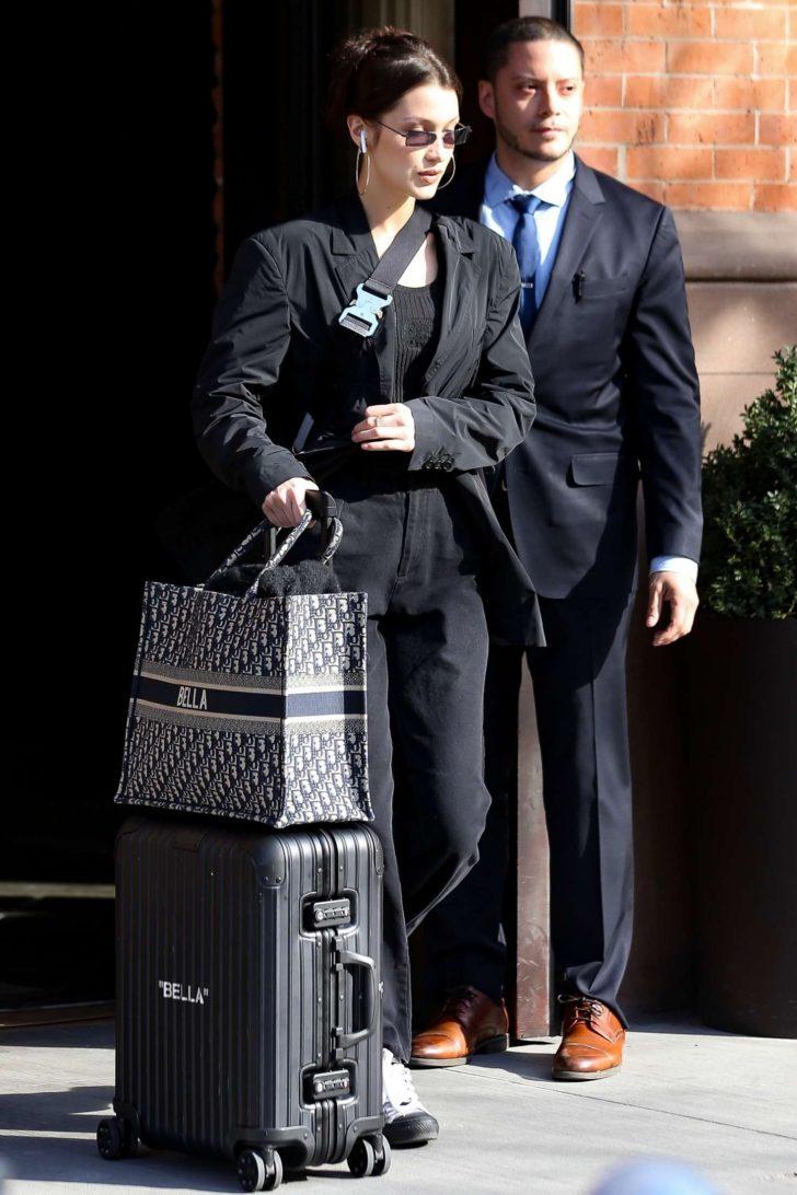 Bella Hadid: Leaving her house in New York -02