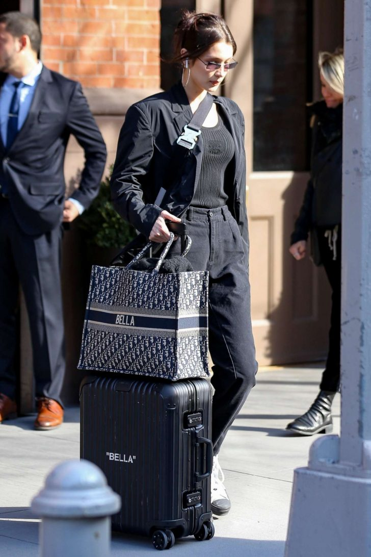 Bella Hadid: Leaving her house in New York -04