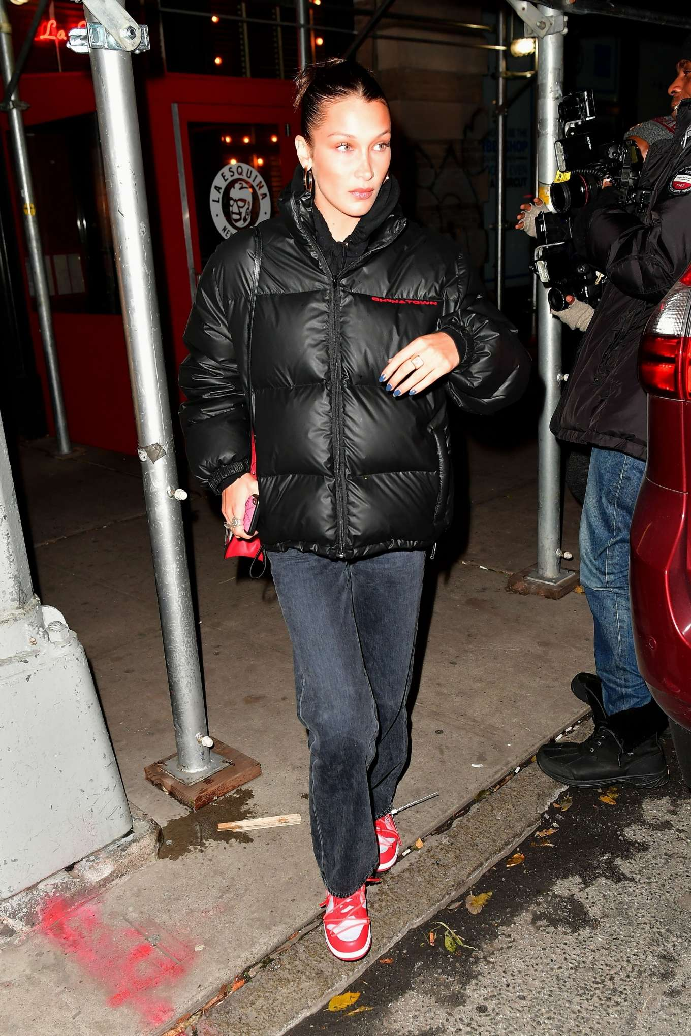 Bella Hadid - Leaving La Esquina Restaurant in Brooklyn