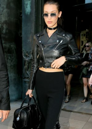 Bella Hadid - Leaving the Alexandre Vauthier Fashion Show in Paris
