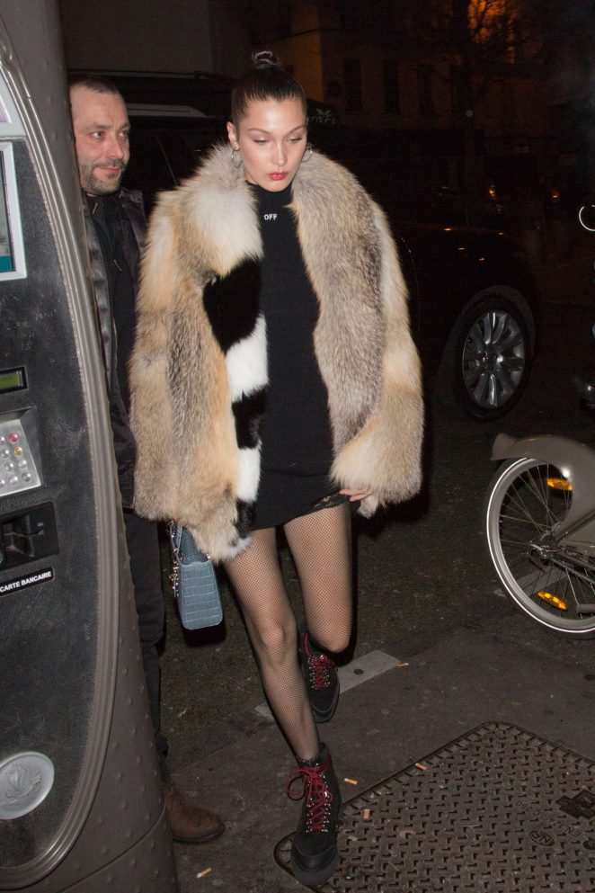 Bella Hadid - Leaving the Ferdi restaurant in Paris