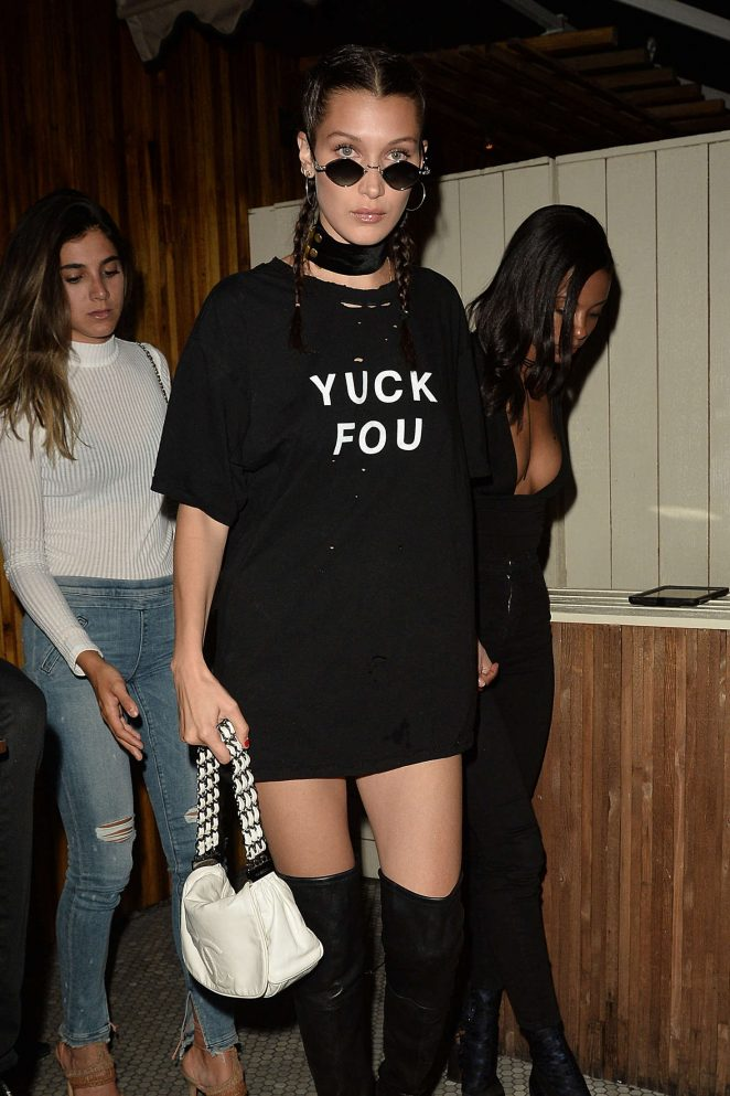 Bella Hadid - Leaving The Nice Guy in West Hollywood