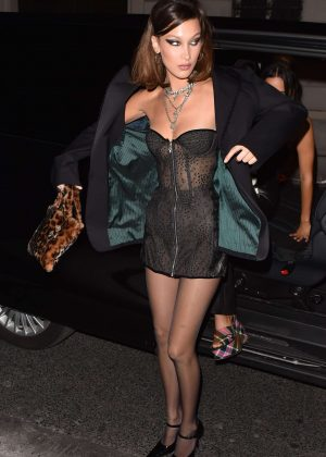Bella Hadid - Leaving the Royal Monceau hotel in Paris