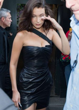 Bella Hadid - Leaving Versace Men SS 2019 Show in Milan
