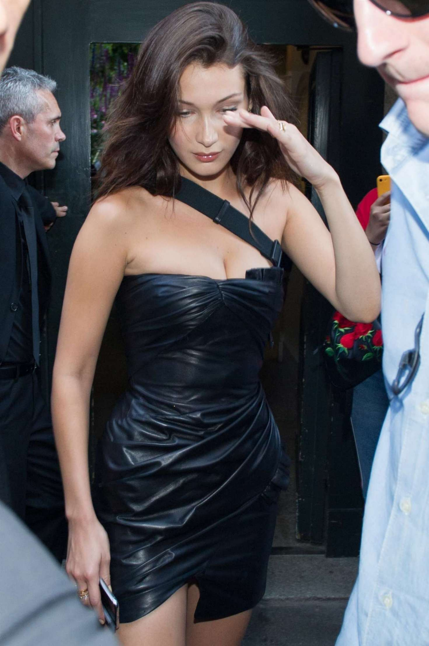 Bella Hadid – Leaving Versace Men SS 2019 Show in Milan