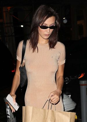 Bella Hadid - Night out in New York City