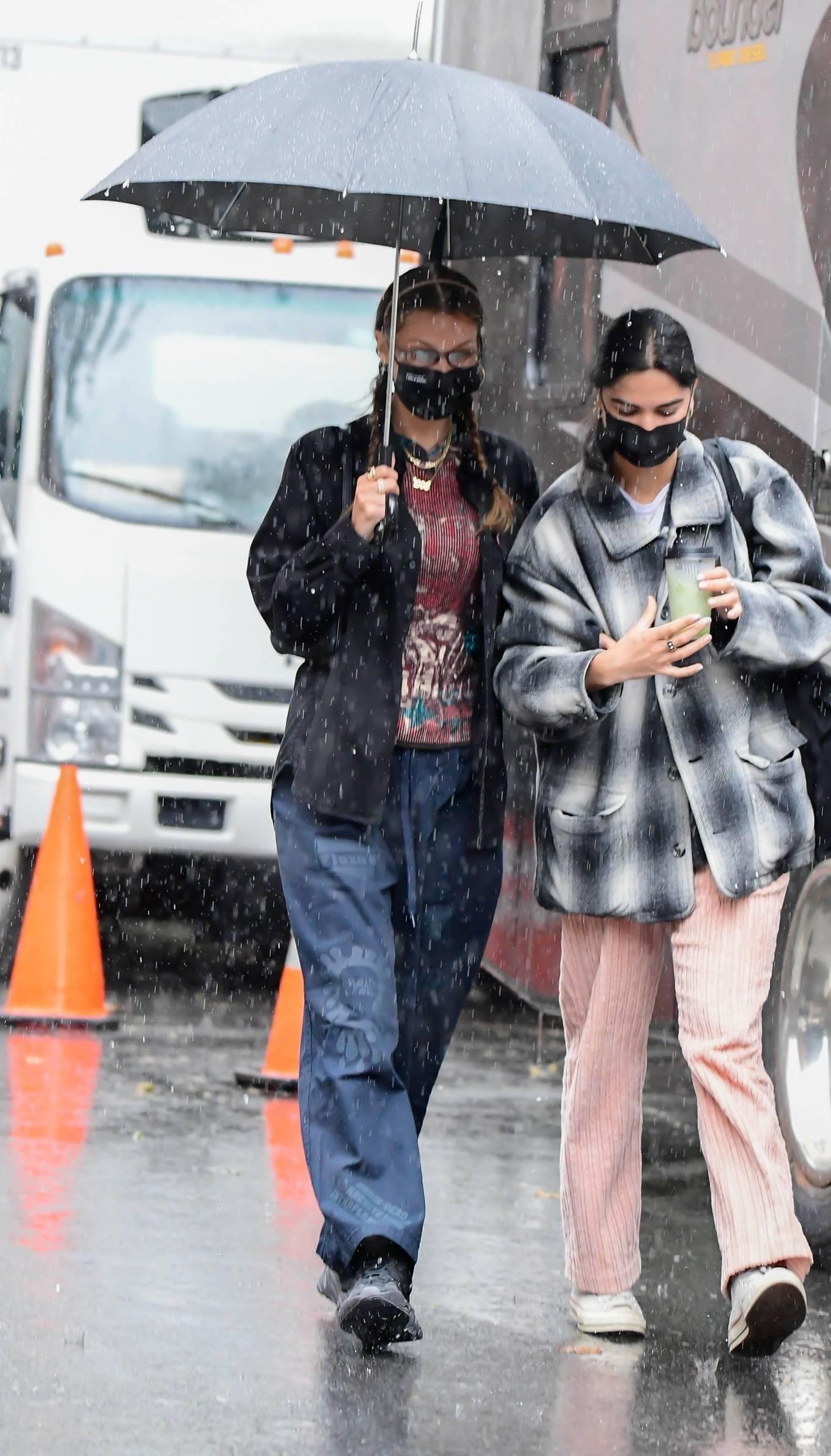 Bella Hadid - on set of the Michael Kors photoshoot in New York