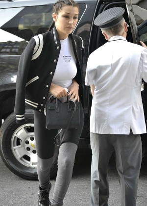 Bella Hadid in Tights Out in NYC