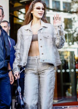 Bella Hadid - Out at Paris Fashion Week in Paris