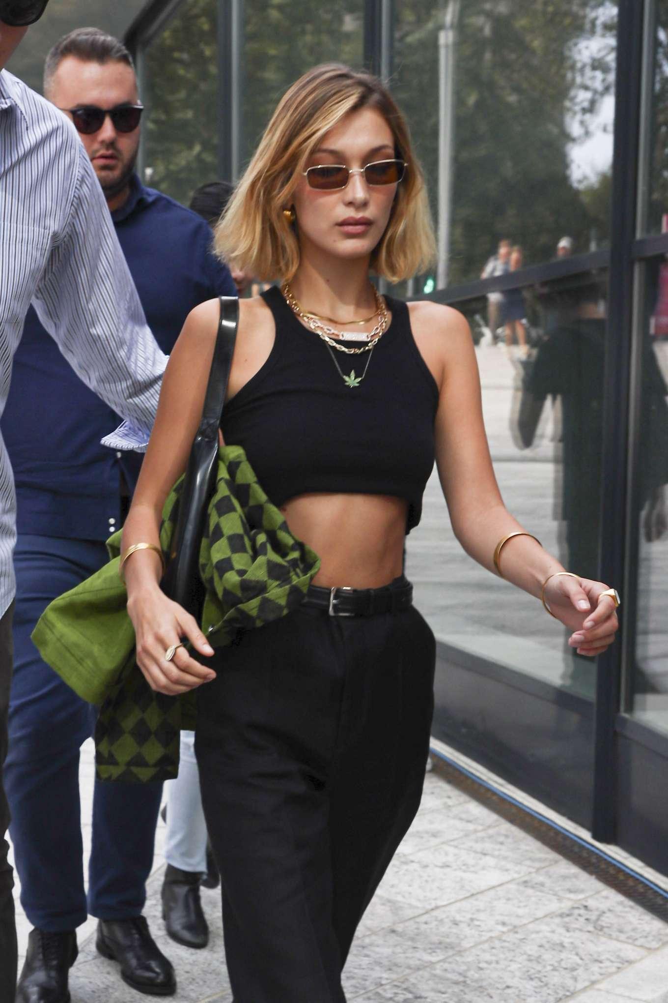 Bella Hadid - Out during Milan Fashion Week