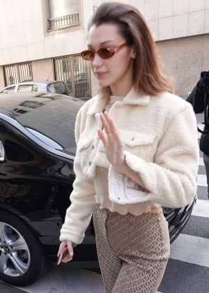 Bella Hadid out in Milan