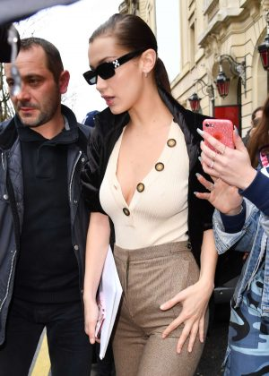 Bella Hadid out in Paris