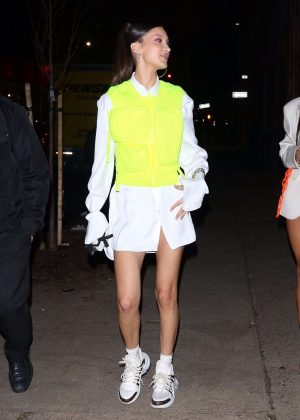 Bella Hadid - Outside the Chrome Hearts and Louis Vuitton Dinner in NYC