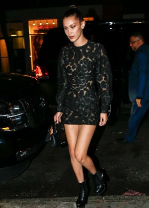 Bella Hadid in Short Dress at Pencils of Promise Event in NYC