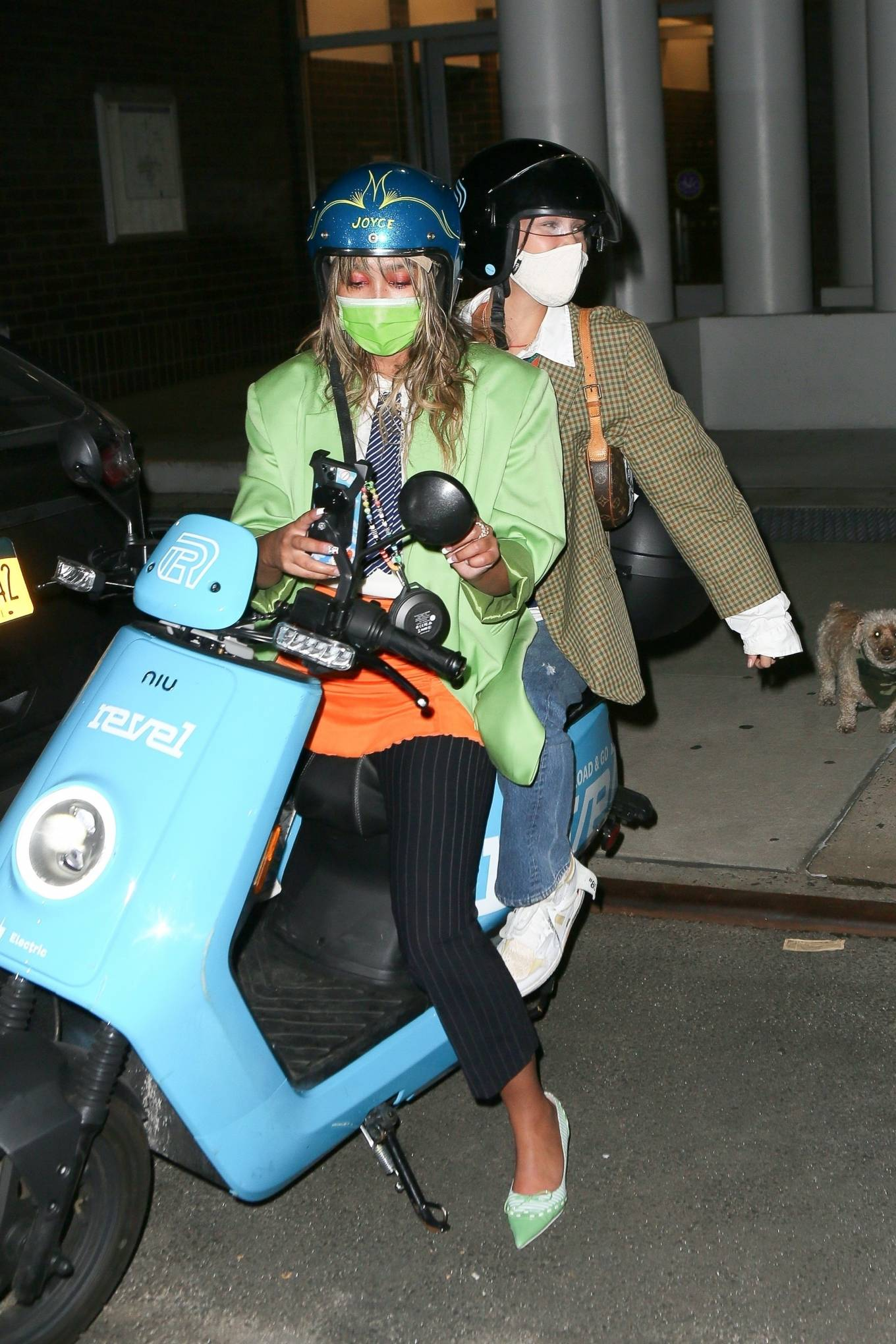 Bella Hadid - Scooter ride as she leaves Ainsworth in New York
