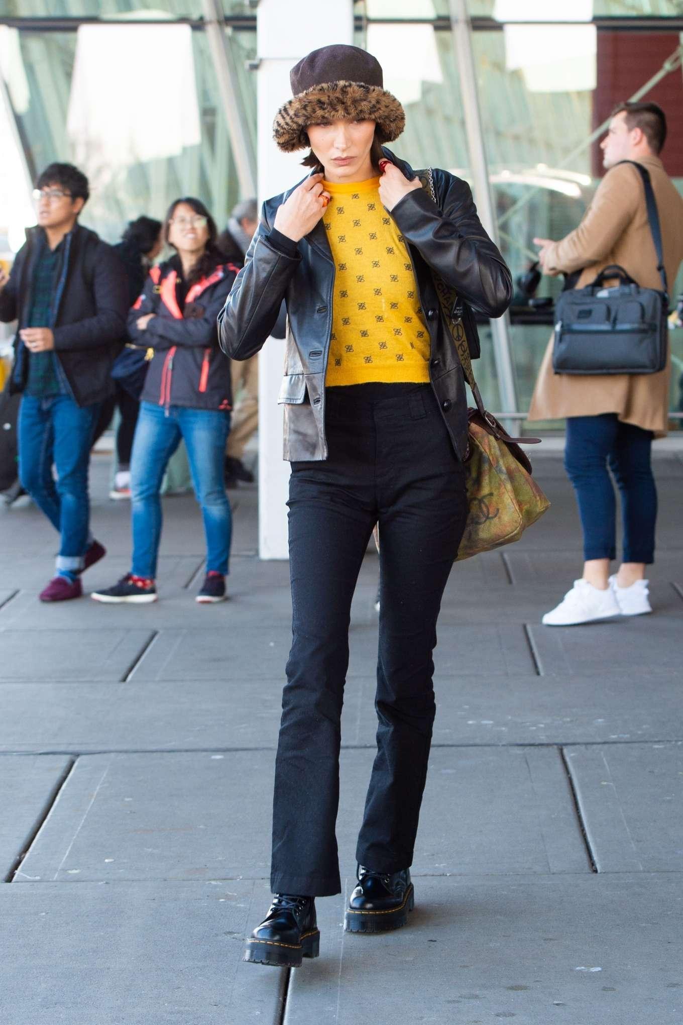 Bella Hadid - Seen At JFK Airport in New York