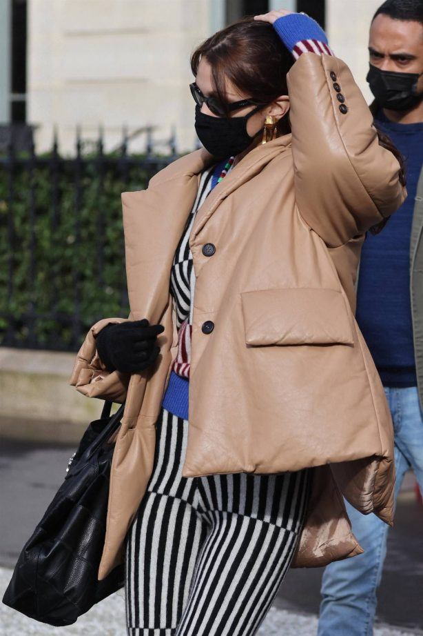 Bella Hadid - Seen at La Reserve during Paris Fashion Week