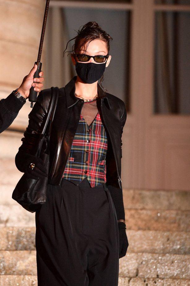 Bella Hadid - Seen at the Fendi Spring - Summer 2021 Haute Couture show in Paris