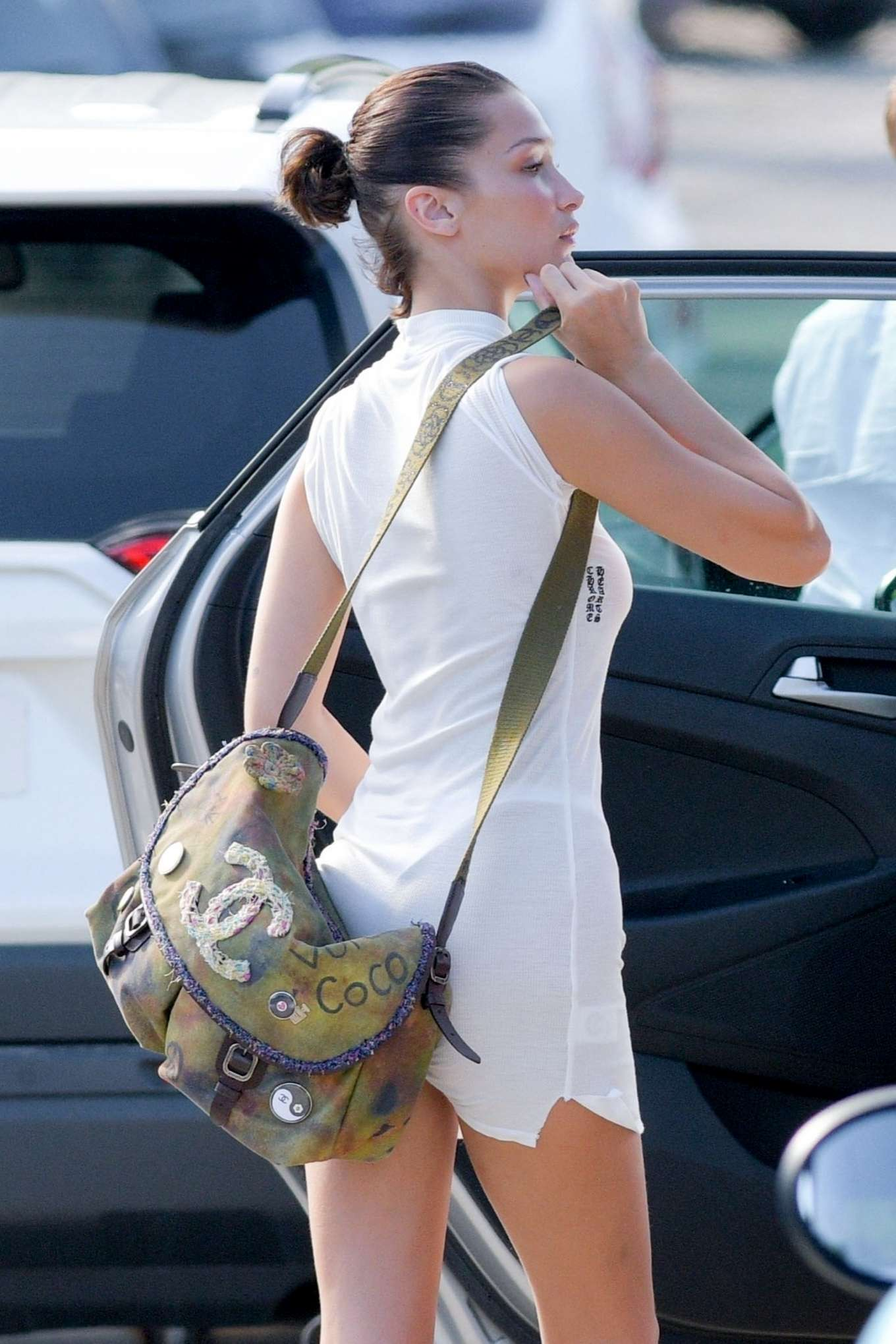 Bella Hadid - Seen while preparing to leave St Barts