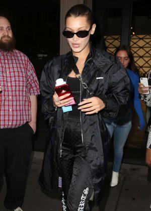 Bella Hadid shopping at Balenciaga in New York City