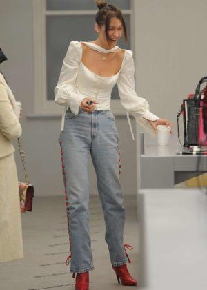Bella Hadid - Shopping Candids at Balenciaga in London
