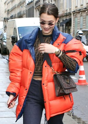 Bella Hadid - Shopping in Paris