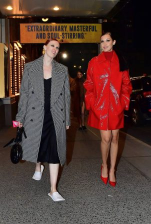 Bella Hadid - Steps out post-Michael Kors fashion show at Times Square in New York