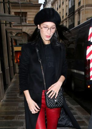 Bella Hadid - Visiting Lanvin Offices in Paris