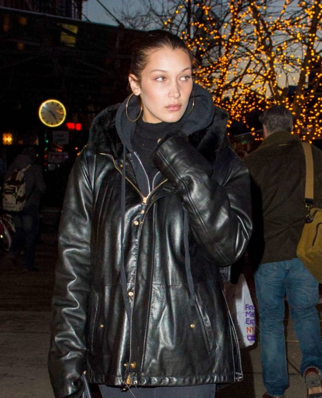 Bella Hadid - Walking home from dinner at Gemma in NYC