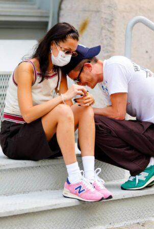 Bella Hadid - With new boyfriend Marc Kalman seen in Tribeca