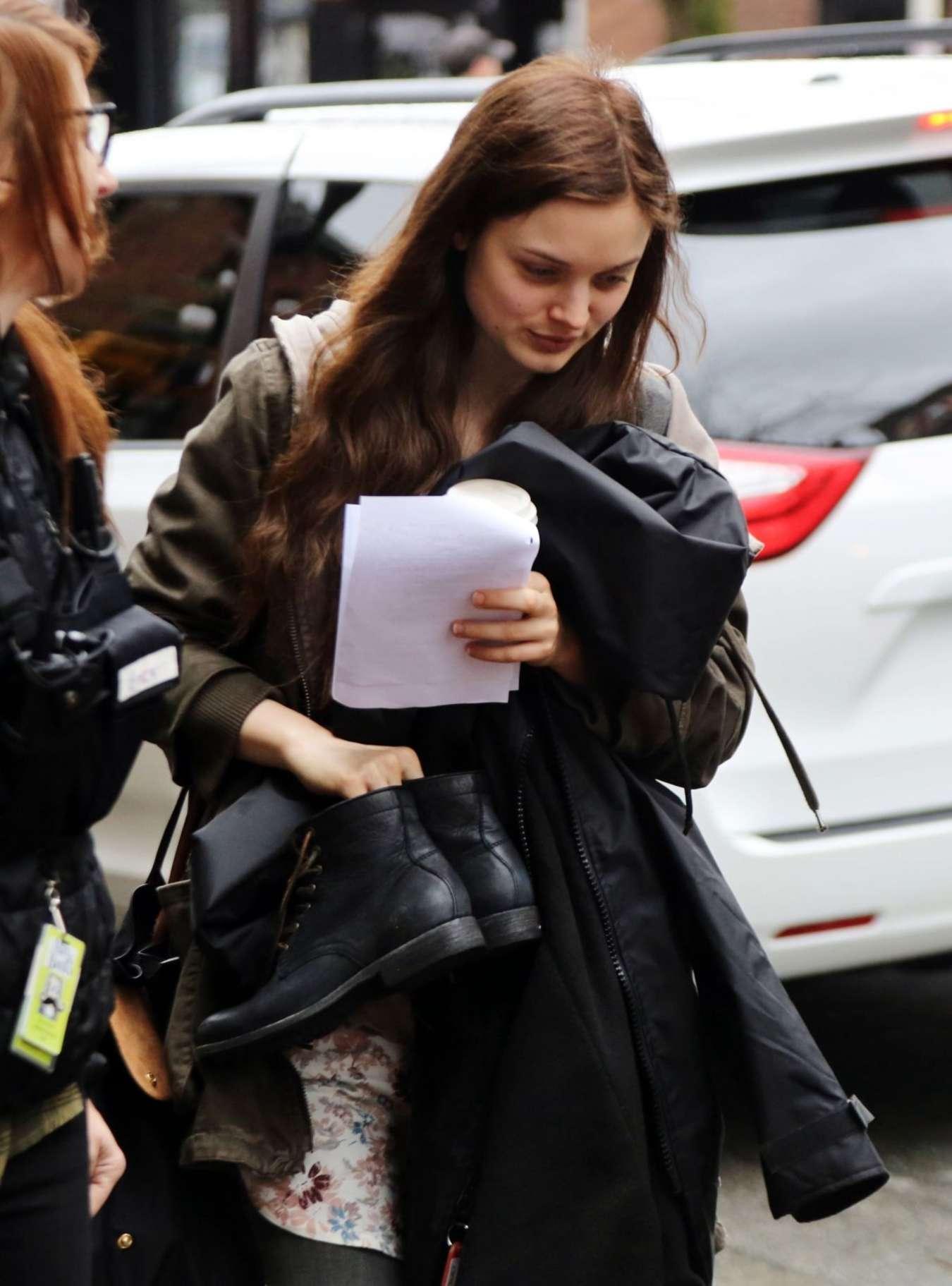 Bella Heathcote - Arrives at 'Fifty Shades Darker' Set in Vancouver