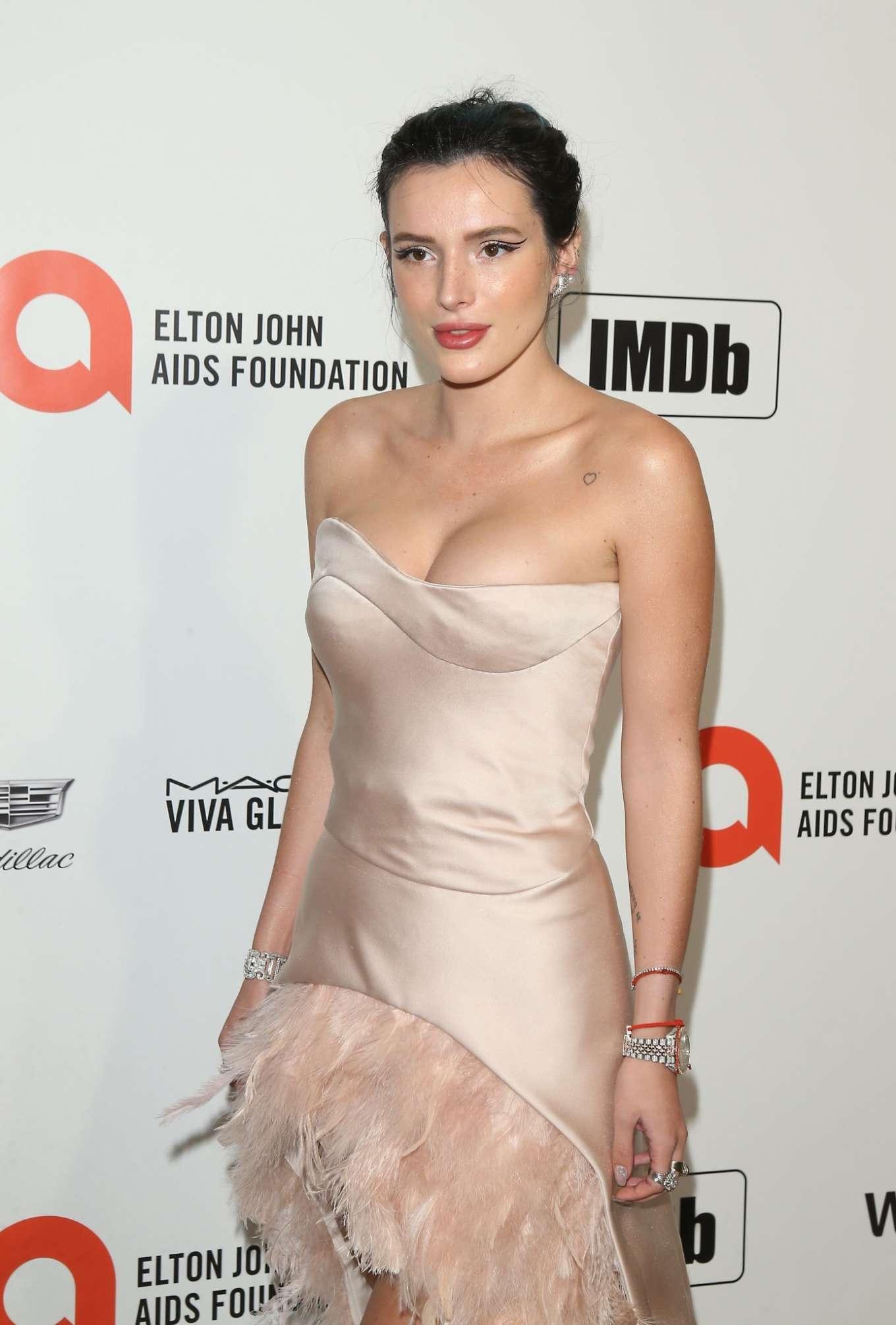 Bella Thorne 2020 : Bella Thorne – 2020 Elton John AIDS Foundation Oscar Viewing Party-06