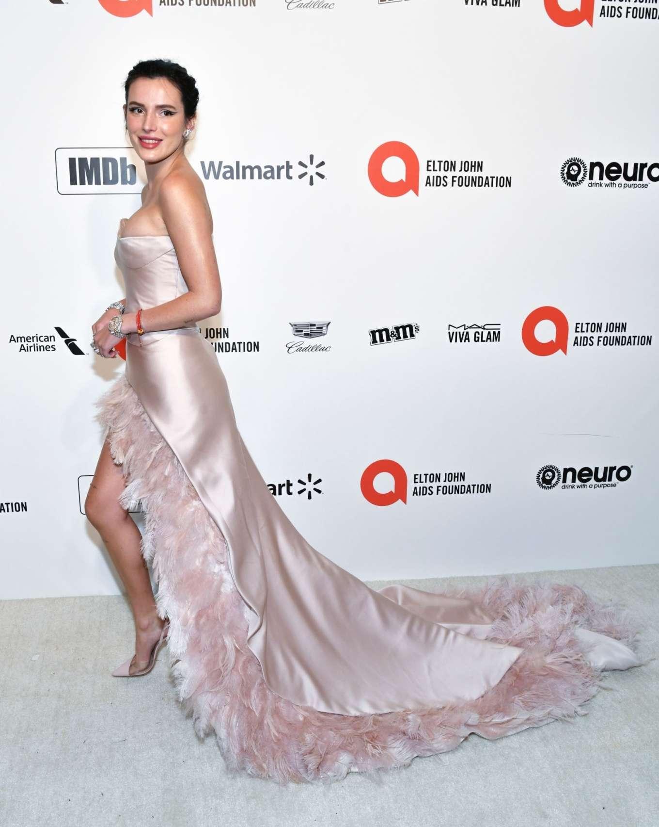 Bella Thorne 2020 : Bella Thorne – 2020 Elton John AIDS Foundation Oscar Viewing Party-09