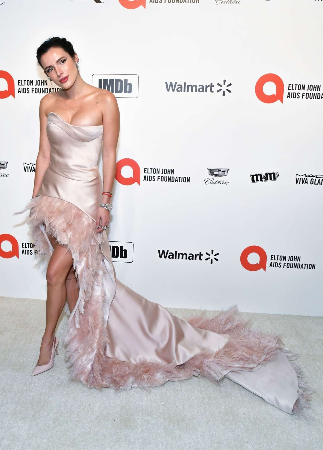 Bella Thorne 2020 : Bella Thorne – 2020 Elton John AIDS Foundation Oscar Viewing Party-18