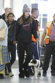 Bella Thorne and boyfriened Alex Martini - Arrives at airport in Toronto