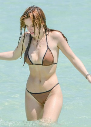 Bella Thorne and Dani Thorne: Hot in a Bikini on the beach in Miami-01