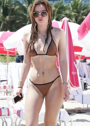 Bella Thorne and Dani Thorne: Hot in a Bikini on the beach in Miami-29